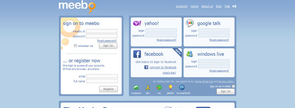 best customized iphone websites Meebo