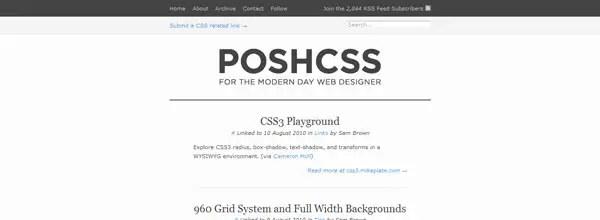 best customized iphone websites Posh CSS