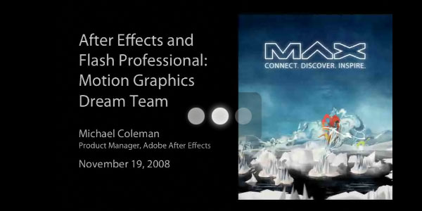 The motion graphics dream team-After Effects Flash CS4