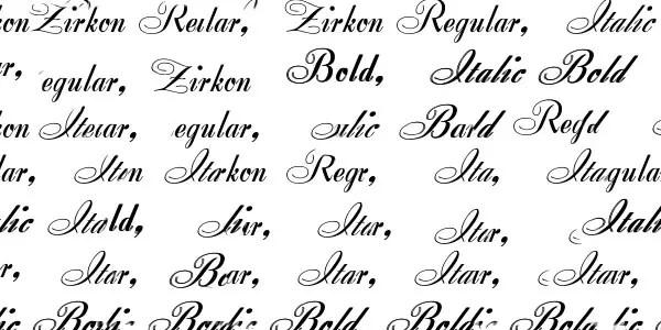 Zirkon font