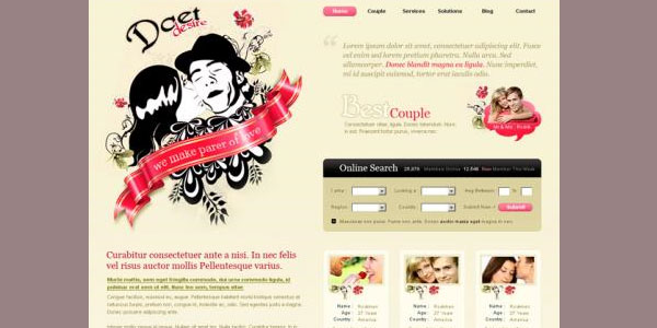 Dating & Wedding template