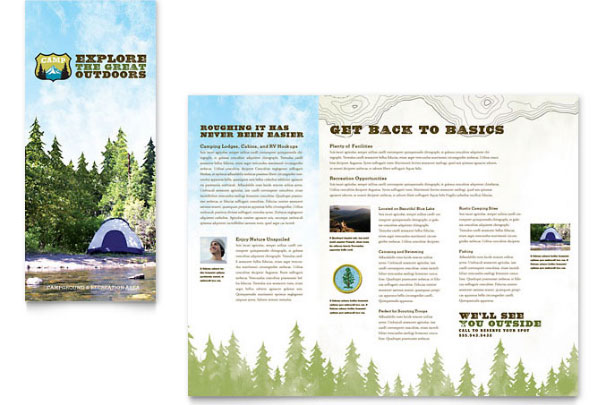 Campgrounds, Parks & Recreation Brochure Template
