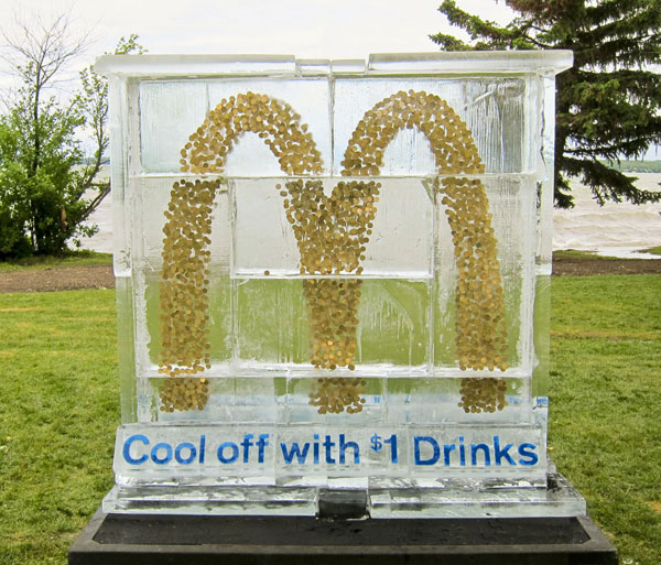 McDonald's: Ice Sculpture Stunt