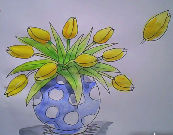 How to draw a rose vase how to 15 handy tutorials on how to draw a flower ccuart Images