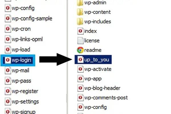 ftp wordpress folder