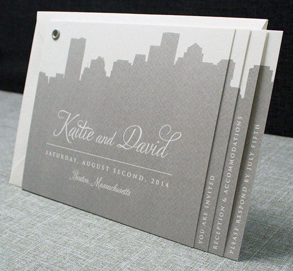 Smythe Sewn Letterpress Wedding Invitation Book Free Tutorial And Idea By Nikki Lo Bue