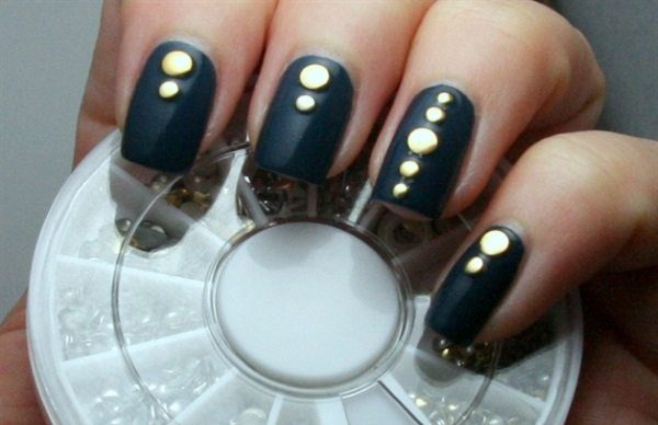 Studded Nail Art Designs