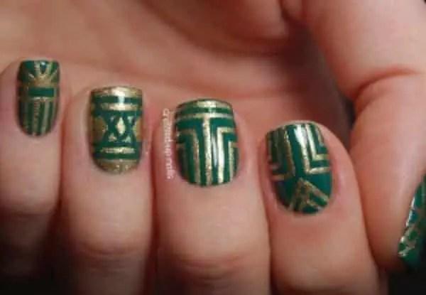 Striping Tape Easy Nail Art Designs 3