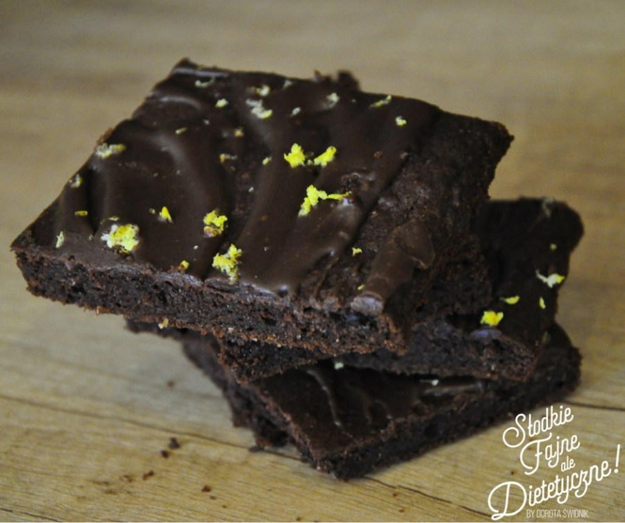 brownie z dyni fit