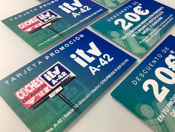 Tarjetas promocionales ITVA-42