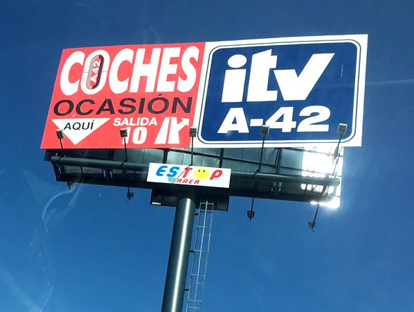 Monoposte publicitario ITVA-42