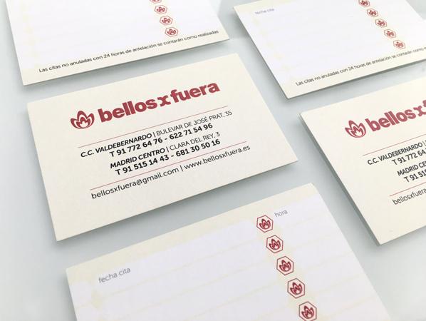 Tarjetas de visita Bellosxfuera