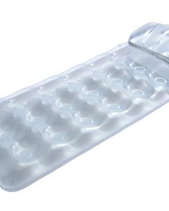 Madrac za plivanje sa čašicama, Transparent Metalik s Jastukom. Madrac od vinila sa uzdignutim jastukom i 18 čaša za vodu.
