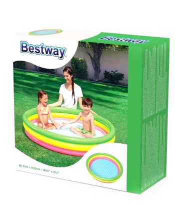 Bazen na napuhavanje, Bestway, obiteljski plastični bazen za dvorište okrugli