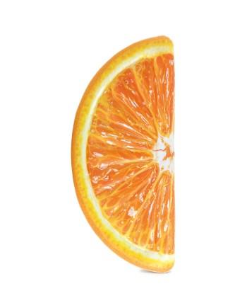 Madrac Intex Orange Slice za plivanje. Madrac od vinila u obliku i sa printom kriške naranče za cool i osvježavajući detalj na vašem bazenu ili plaži.