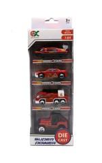 Auti metalni, praktičan set vozila sa 4 različita metalna modela u omjeru 1:64.