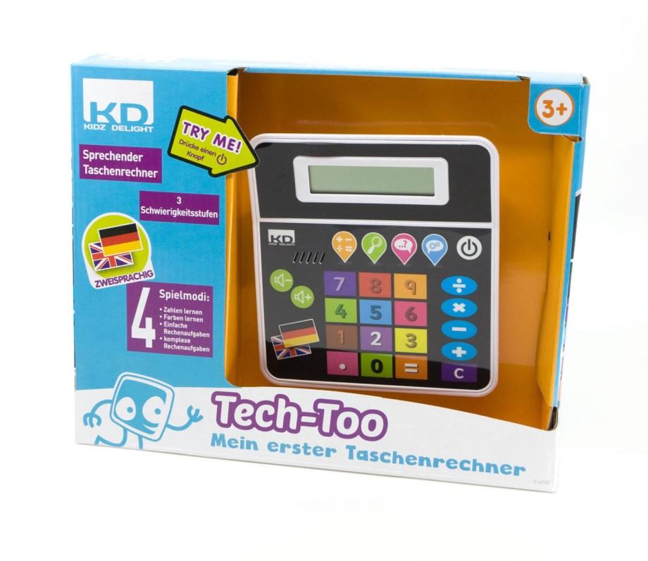 Dječji kalkulator Tech Too za prve matematičke vježbe. Razveselite dijete sa zvučnim kalkulatorom na kojemu se može smanjivati ili pojačavati zvuk i muzika.