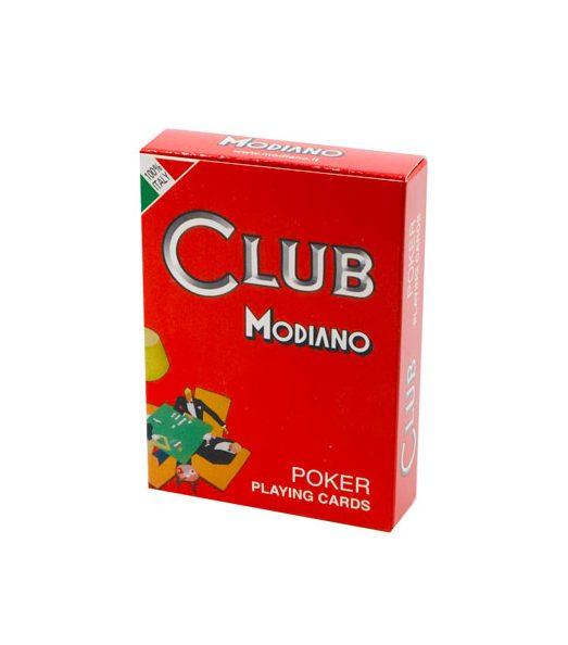 Igraće karte za poker Modiano. Kvalitetne plastificirane karte za poker, 100% made in Italy, sa crvenom pozadinom. Za sve ljubitelje kartaških igara.