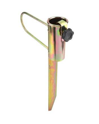 Metalni klin za Suncobran, držač suncobrana. Čvrsti metalni klin za suncobran s podesivim utorom za suncobran do 38mm širine štapa.