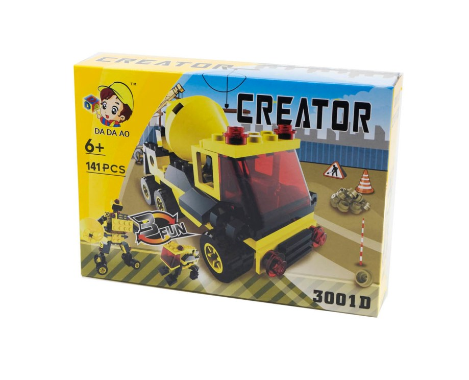 Kocke za slaganje vozila 3u1. Kockice za izradu modela raznih vozila.