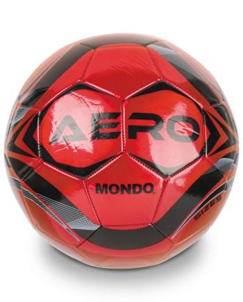 Nogometna lopta Mondo Aero 400gr, Lopta za nogomet Aero veličine 5 strojno je šivana, sjajne površine.