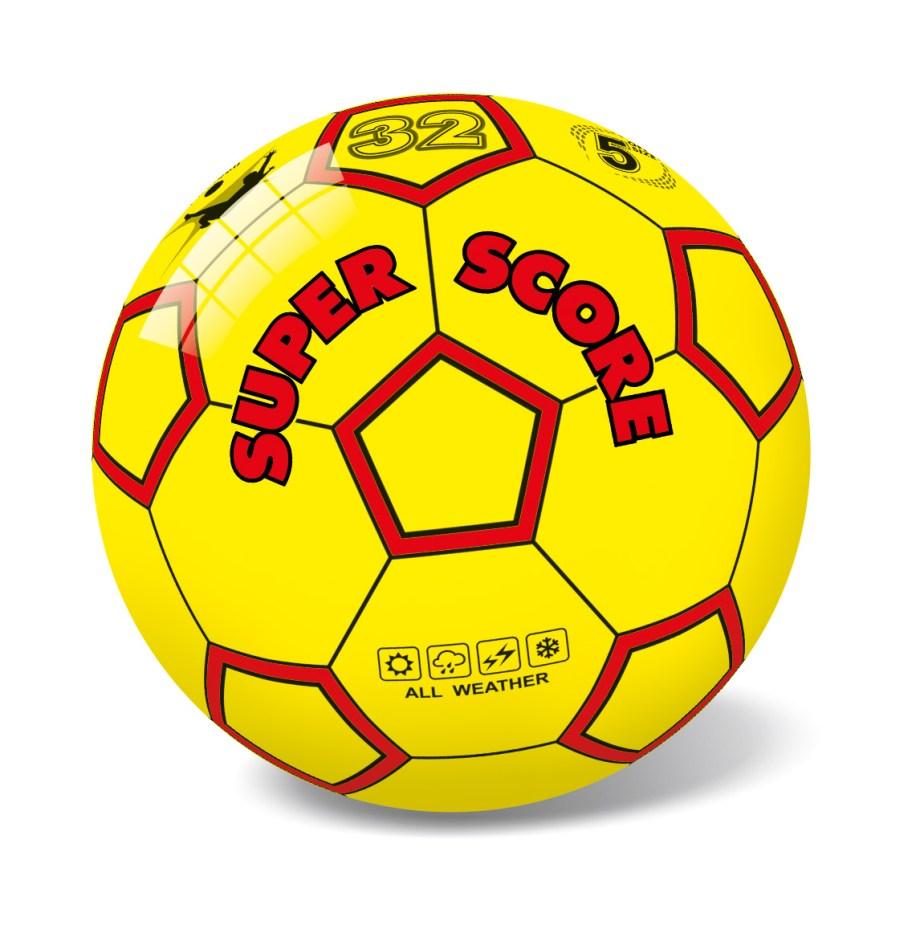Lopta Pvc Super Score d23cm, Plastična lopta veličine 23cm, savršena je za sve uzraste, prilagođena za igru na svim površinama i u svim uvjetima.