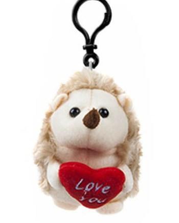 Plišani Jež sa srcem i privjeskom 12cm. Mekani plišani ježić sa izvezenim srcem sa porukom i privjeskom. Savršen poklon za voljenu osobu, za Valentinovo