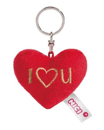 """Plišani privjesak srce Nici. Mekano srce na privjesku sa natpisom """"I heart You"""". Idealan znak pažnje za voljenu osobu"""
