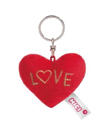 """Privjesak pliš srce Nici. Mekano srce na privjesku sa natpisom """"Love"""". Idealan znak pažnje za voljenu osobu"""