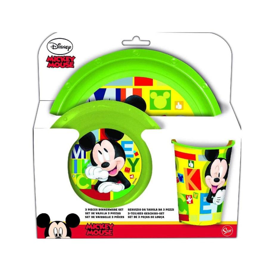 Set za jelo Mickey Mouse 3/1, dječji komplet za jelo. Plastični dječji set za jelo sa likom Mickey Mouse.