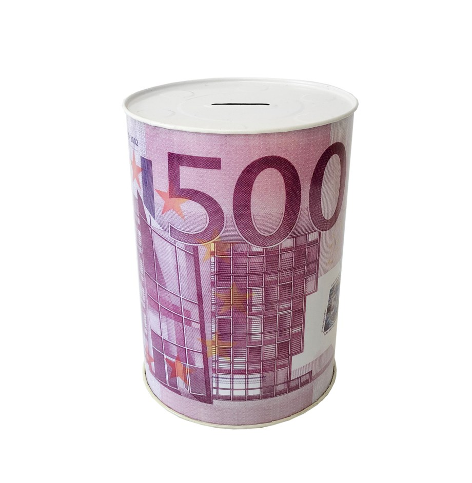 Limena Kasica Euro. Limena kasica sa motivima valute Eura.