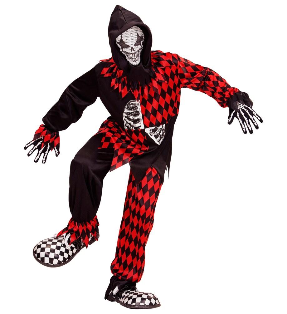KOSTIM Evil Jester je kostim namijenjen djeci od 11 do 13 godina. Savršen je za lude partije, proslave Halloweena ili karnevalske povorke.
