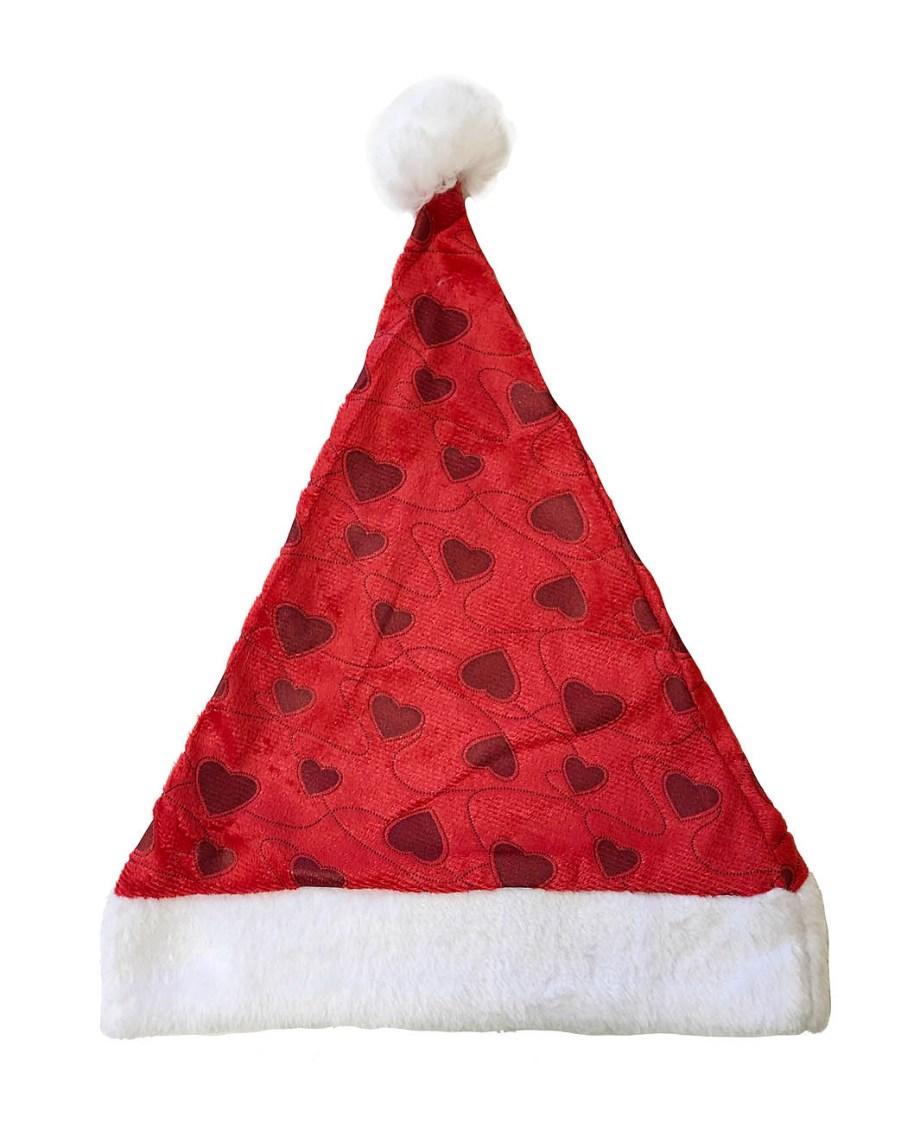 kapa-djed-božićnjak-na-srca-plišana-kapa-za-božić