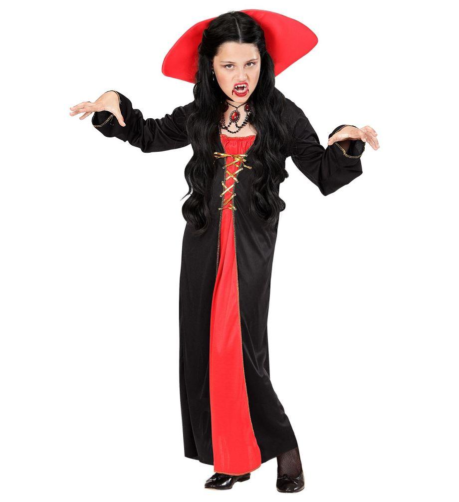KOSTIM Vampirica je kostim namijenjen djeci od 11 do 13 godina. Savršen je za lude partije, proslave Halloweena ili karnevalske povorke.