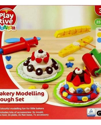 Igra plastelin - pekarnica, Pasta za modeliranje 5x56g. Raznobojni, modelirajući set sa 5 vazica za modeliranje i puno dodataka.