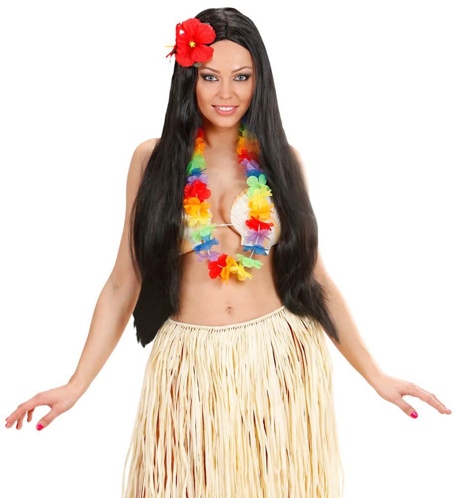 HAWAII Ogrlica Multicolor, karnevalska havajska ogrlica. Savršena je za maskiranje, lude partije, proslave Halloweena ili karnevalske povorke.