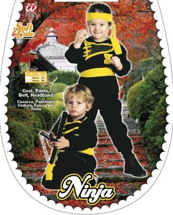 Kostim Ninja, dječji kostim za karneval. Kostim je namjenjen djeci između 2-3 i 3-4 godine. Savršen je za lude partije, proslave Halloweena ili karnevalske povorke.