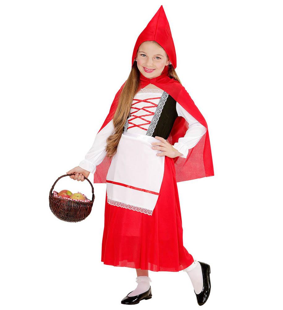 Kostim Crvenkapica za karneval, veličina 5 do 7 godina. Savršen je za igru, lude partije ili karnevalske povorke.