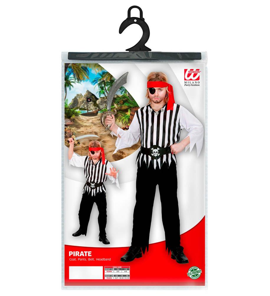Kostim dječji Gusar, Gusarski kosti. Kostim je namjenjen djeci između 5-7 godina. Savršen je za lude partije, proslave Halloweena ili karnevalske povorke.