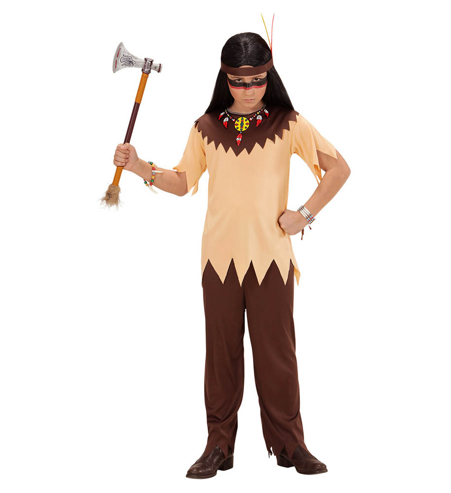 Kostim Indijanac 8-10 godina, karnevalski kostim. Kostim je namjenjen djeci između 8-10 godina. Savršen je za lude partije, proslave Halloweena ili karnevalske povorke.