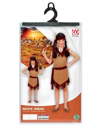 Kostim Indijanka 11-13 godina, karnevalski kostim. Kostim je namjenjen djeci između 11-13 godina. Savršen je za lude partije, proslave Halloweena ili karnevalske povorke.