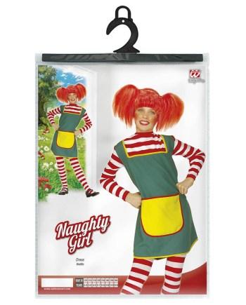 Kostim Pipi duga čarapa, za djecu od 8-10 godina. Savršen je za igru, lude partije ili karnevalske povorke.