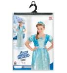 Kostim za djecu Princeza Plava je kostim namijenjen djeci od 2-3 i 8-10 godina. Savršen je za igru, lude partije ili karnevalske povorke.