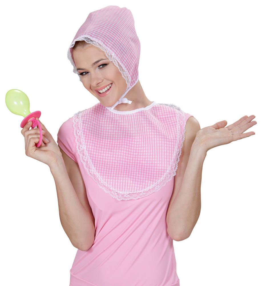 Kostim za odrasle Beba. Karnevalski set za Bebu je kostim namijenjen odraslima. Savršen je za lude partije, proslave Halloweena ili karnevalske povorke.