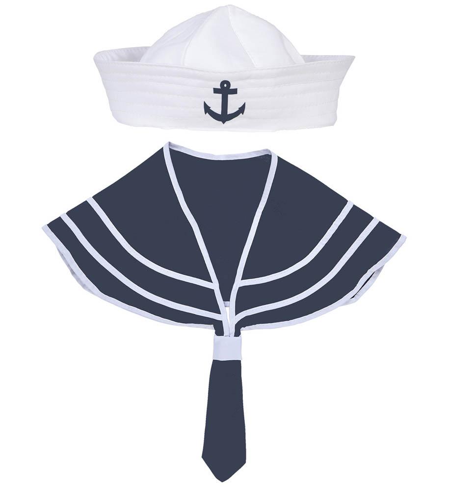 Kostim Mornar za odrasle, Set za mornara 2/1. Set je namjenjenodraslim osobama. Savršen je za lude partije, proslave Halloweena ili karnevalske povorke.