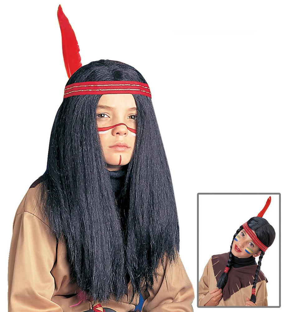 Perika za djecu Indijanac/Indijanka, Karnevalska perika je perika namijenjena djeci. Savršena je za maskiranje, lude partije, proslave Halloweena ili karnevalske povorke.