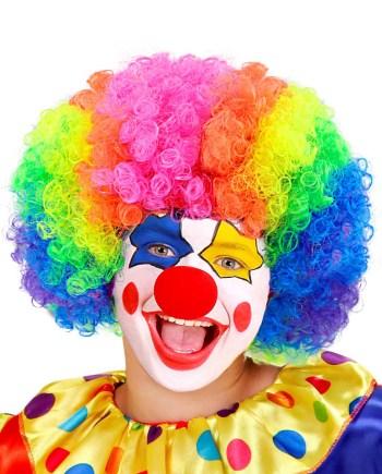 Perika za djecu Klaun - Clown, šarena, raznobojna perika. Savršena je za maskiranje, lude partije, proslave Halloweena ili karnevalske povorke.