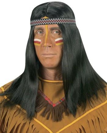 Perika za Indijanaca, karnevalska perika za odrasle. Savršena je za maskiranje, lude partije, proslave Halloweena ili karnevalske povorke.