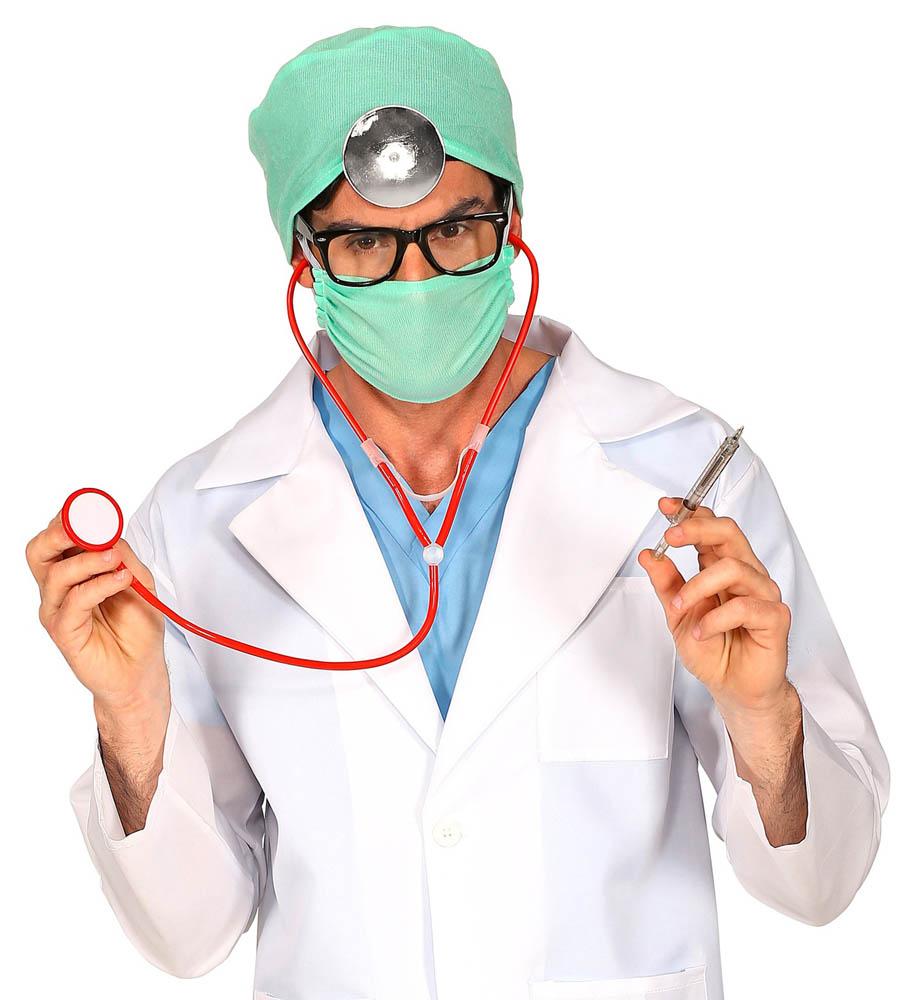 Kostim za odrasle Doktor. Karnevalski set doktor je kostim namijenjen odraslima. Savršen je za lude partije, proslave Halloweena ili karnevalske povorke.