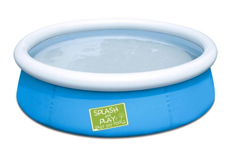 Bazen za djecu Fast set Splash and Play 152x38 centimetra. Dječji bazen s obručem na napuhavanje. Bazen ima samo obruč na napuhavanje dok se ostatak bazena samo napuni vodom.
